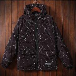 Bigboy - Print Hooded Padded Jacket
