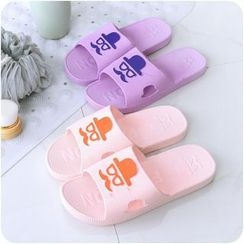 Eggshell Houseware - Mustache Home Slippers