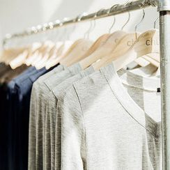 chuu - V-Neck Slim-Fit T-Shirt