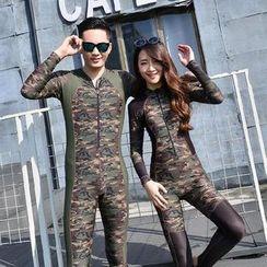 Roseate - Camouflage Print Couple Matching Rashguard
