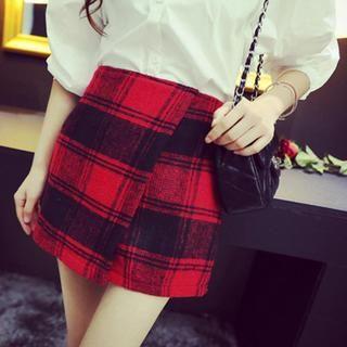 QZ Lady - Plaid Pencil Skirt
