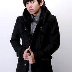 SeventyAge - Wool-Blend Hooded Coat