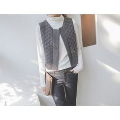 JUSTONE - Open-Front Quilted Vest