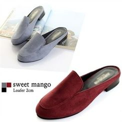 SWEET MANGO - Open-Back Faux-Suede Loafers