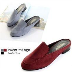SWEET MANGO - Open-Back Faux-Suede Loafers
