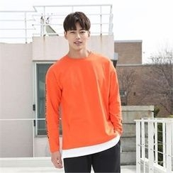 BYMONO - Lettering-Sleeve T-Shirt