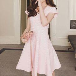 Ashlee - Print Short-Sleeve A-Line Dress
