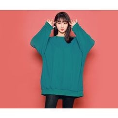 HOTPING - Round-Neck Loose-Fit Pullover
