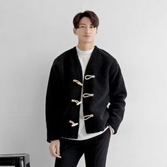 Seoul Homme - Toggle-Button Fleece Jacket