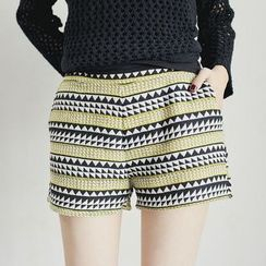 Tokyo Fashion - Geometric Pattern Shorts