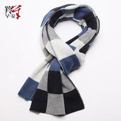 RGLT Scarves - Contrast-Color Check Scarf