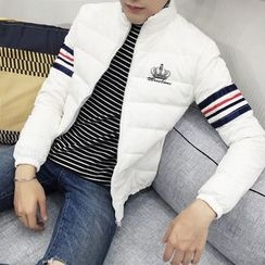 Bay Go Mall - Striped Down Jacket