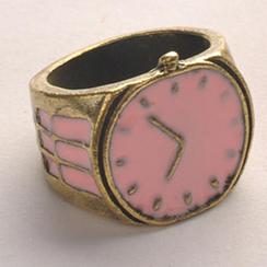 Fit-to-Kill - 復古手錶戒指 - 粉色