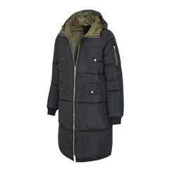 DANGOON - Hooded Zip-Up Long Puffer Coat