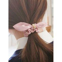 kitsch island - Bow Rhinestone Hair Tie