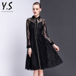 Y:Q - Lace A-Line Shirtdress