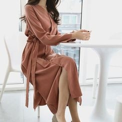 Hello sweety - V-Neck Shirtdress with Sash