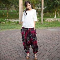 Ebbie - Printed Harem Pants