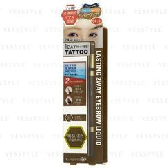 K-Palette - 1 Day Tattoo Lasting 2 Way Eyebrow Liquid (#01 Light Brown)