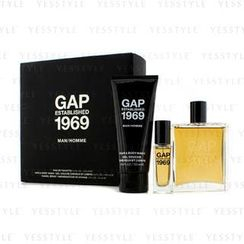 Gap - Established 1969 Man Coffret: Eau De Toilette Spray 100ml/3.4oz + Travel Spray 15ml/0.5oz + Hair and Body Wash 100ml/3.4oz