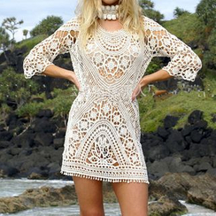 Sunset Hours - Open Back Crochet Cover Up