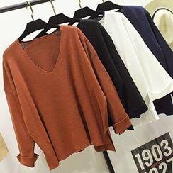 Honey House - V-Neck Knit Pullover