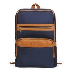 Mr.ace Homme - Faux-Leather-Trim Backpack