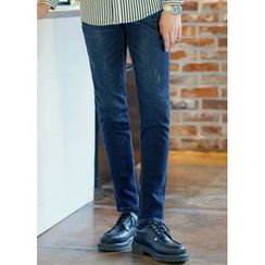 JOGUNSHOP - Plain Straight-Cut Jeans