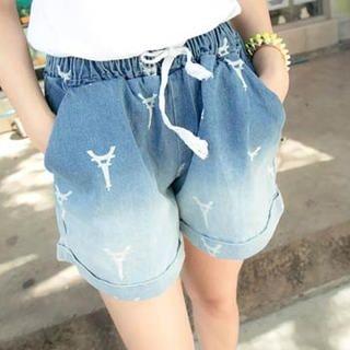 Tokyo Fashion - Gradient Denim Shorts
