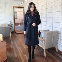 Hello sweety - Double-Breasted Wool Blend Coat