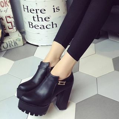 Chryse - Platform Block Heel Ankle Boots