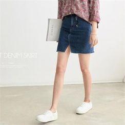 PEPER - A-Line Denim Skirt
