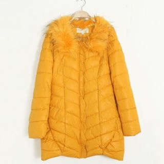 Flower Idea - Faux-Fur Collar Puffer Coat