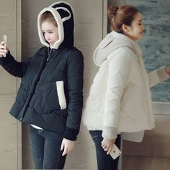 沐乃衣 - 針織連帽夾棉夾克