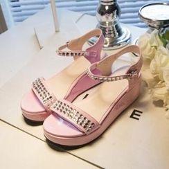 Tomma - 水鑽厚底涼鞋