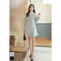 MyFiona - Ruffle-Hem Double-Breasted Coatdress