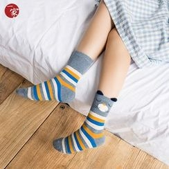Socka - 立体耳朵搞怪猫咪中筒袜