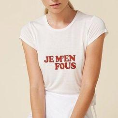 Obel - Lettering Short Sleeve T-Shirt