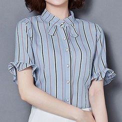 Fashion Street - Short-Sleeve Striped Shirt