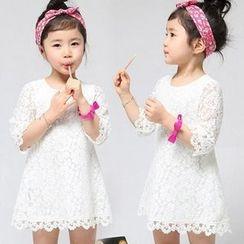 SEE SAW - 3/4-Sleeve Lace Dress