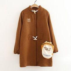 ninna nanna - 牛角扣針織大衣