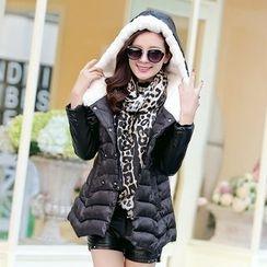 AiSun - Faux Fur Padded Jacket