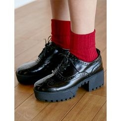 FROMBEGINNING - Platform Chunky-Heel Oxfords