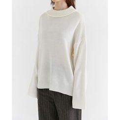 Someday, if - Mock-Neck Long-Sleeve Knit Top