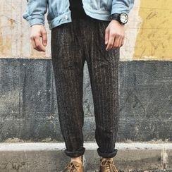 Milioner - 細直條紋哈倫褲