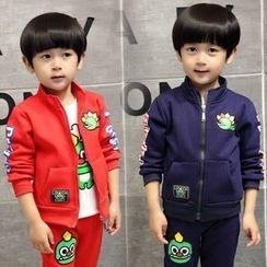 SEE SAW - 童裝套裝:印花夾克 + 上衣 + 褲