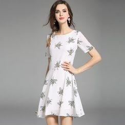 Y:Q - Printed A-Line Dress