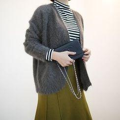 STYLEBYYAM - Angora Wool Blend Open-Front Cardigan