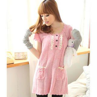Tokyo Fashion - Lace-Trim Knit Tunic