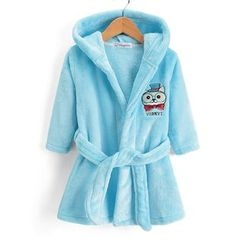 Yobaby - 童装狗刺绣睡袍